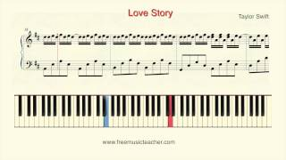 "How To Play Piano: Taylorswift ""Lovestory"