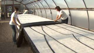 Capillary Mat Construction For High Tunnel Or Greenhouse Benches