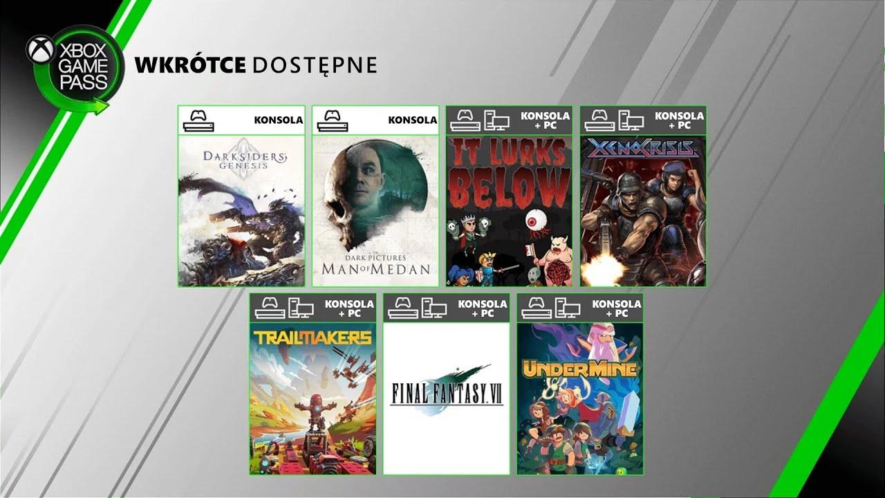 Xbox Game Pass - Sierpień 2020   Xbox XY Extra