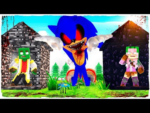 👉 SONIC.EXE VS BASE PRO - MINECRAFT