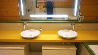 Ванная комната из искусственного камня  Самсунг Старон Samsung Staron(, 2015-11-02T13:59:38.000Z)