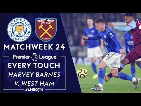 Every Harvey Barnes touch for Leicester City v. West Ham | Premier League | NBC Sports