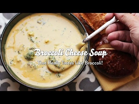 Broccoli Cheese Soup (That Really Tastes Like Broccoli!)