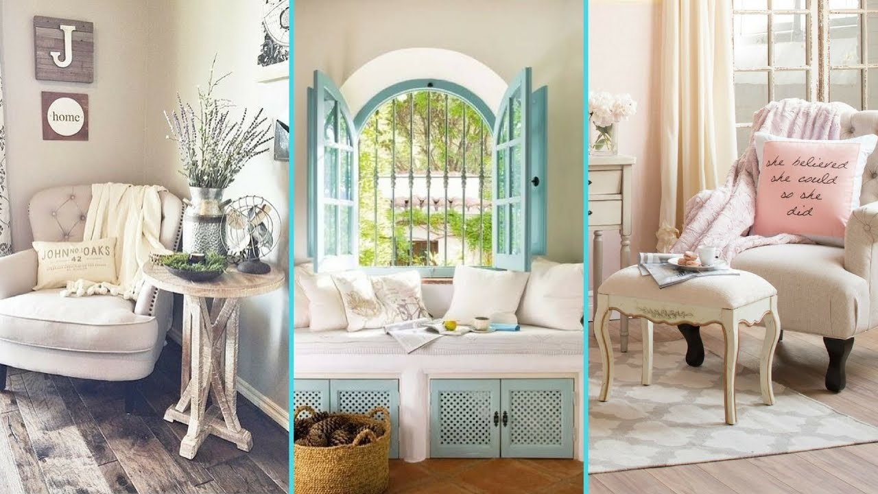 DIY Shabby Chic Style Reading Nook or Comfy Corner decor ...