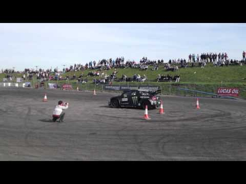 Liam Dorans Citroen DS3 RallyX Supercar trying starts