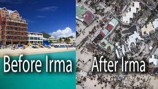 Before and After, hotels , resorts, houses beaches, airports and harbours have changed completely