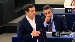 Tsipras addresses European Parliament