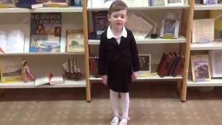 Елизавета Бондаренко (4 года) читает стихотворение М. Ю. Лермонтова ''Молитва''