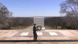 Arlington's First Senior Enlisted Advisor at Tomb of Unknown Soldier