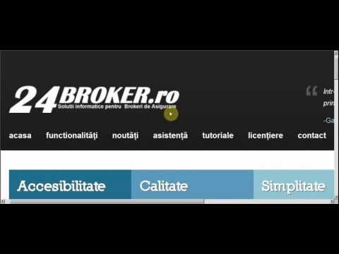 24Broker.ro - Video manual - 01. Introducere from YouTube · Duration:  19 seconds