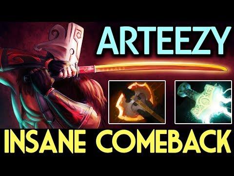 Arteezy Dota 2 [Juggernaut] Insane Comeback HardGame