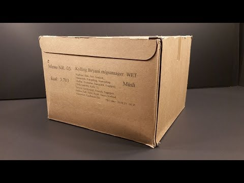 2015 Danish 24hr Combat Ration Pack Hot Weather MRE Review Meal Ready To Eat Taste Test