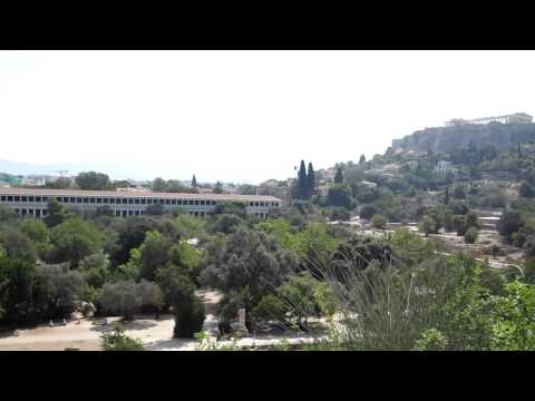 Skyline Old Ruins Athens Greece