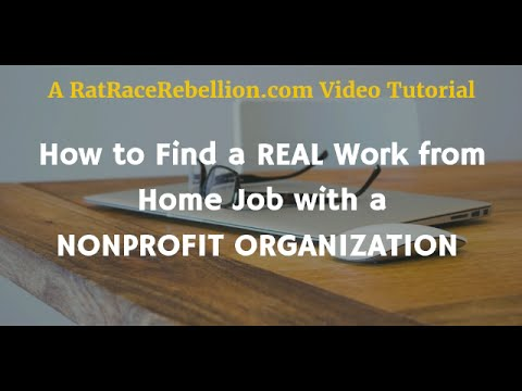 How to Find a Real Work from Home Job with a Nonprofit Organization