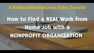 How to Find a Real Work from Home Job with a Nonprofit Organization thumbnail