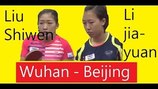 [TT SupaLiga] (English Noted) Liu Shiwen (Wuhan), Li Jiayuan(Beijing)
