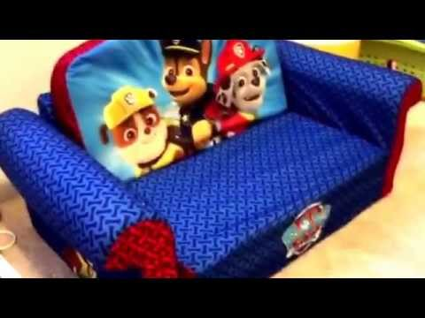 Paw Patrol Slaapkamer : Paw patrol couch review by mr tims and little mr tims folds out