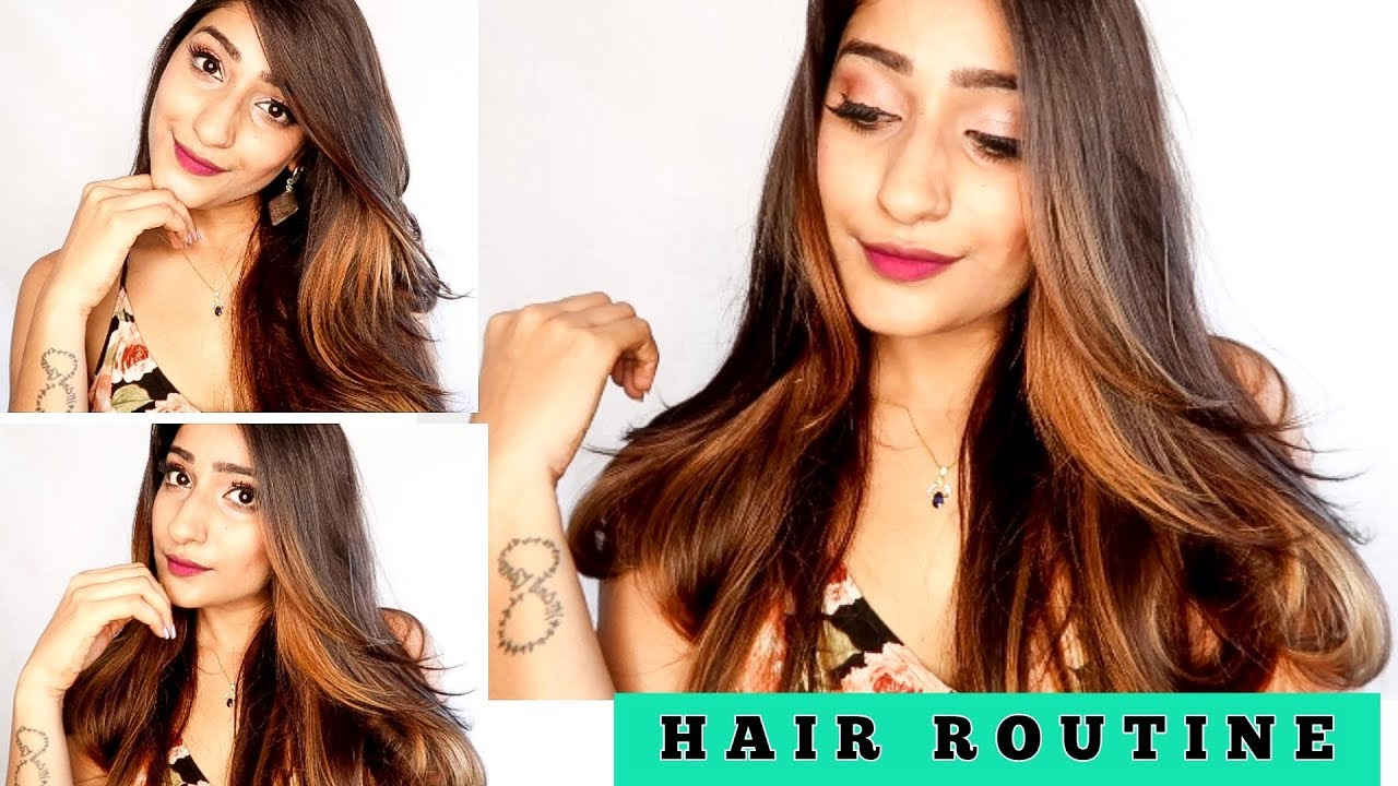 My Hair Routine For Straight Hair Bounce Without Heat Or Styling Products Youtube