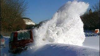 1999 Jeep XJ Cherokee 4x4 blasting through 1 to 3 feet of deep snow.  Total 4.0L Snow domination