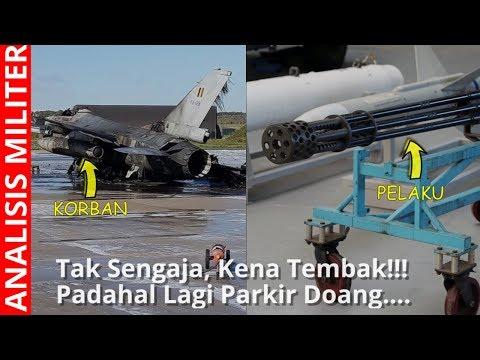 Tak Sengaja, Pesawat Tempur F16 Ini Hancur Tertembak  F16 Lain di Darat