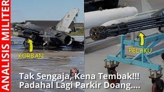 Tak sengaja, Jet Tempur F16 Ini Hancur Tertembak  F16 Lain di Darat
