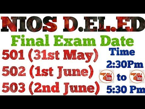 आ गई डीएलएड की परीक्षा की DATE   31 MAY   1 JUNE   2 JUNE   TEJ TUBE