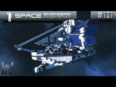 Space Engineers Inspiration - Episode 131: Hugo, Caroline Solar Ship, & Adroma Class Freighter
