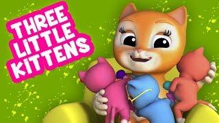 Три маленьких котята | Котенок песня | Three Little Kittens
