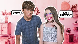 I Did My Makeup BAD To See How My CRUSH Would React **CUTE REACTION**💕💄 |Symonne Harrison