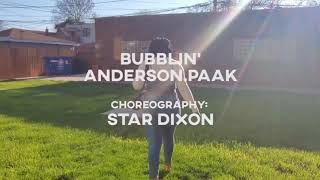 Anderson.Paak Bubblin Tap choreography by Star Dixon