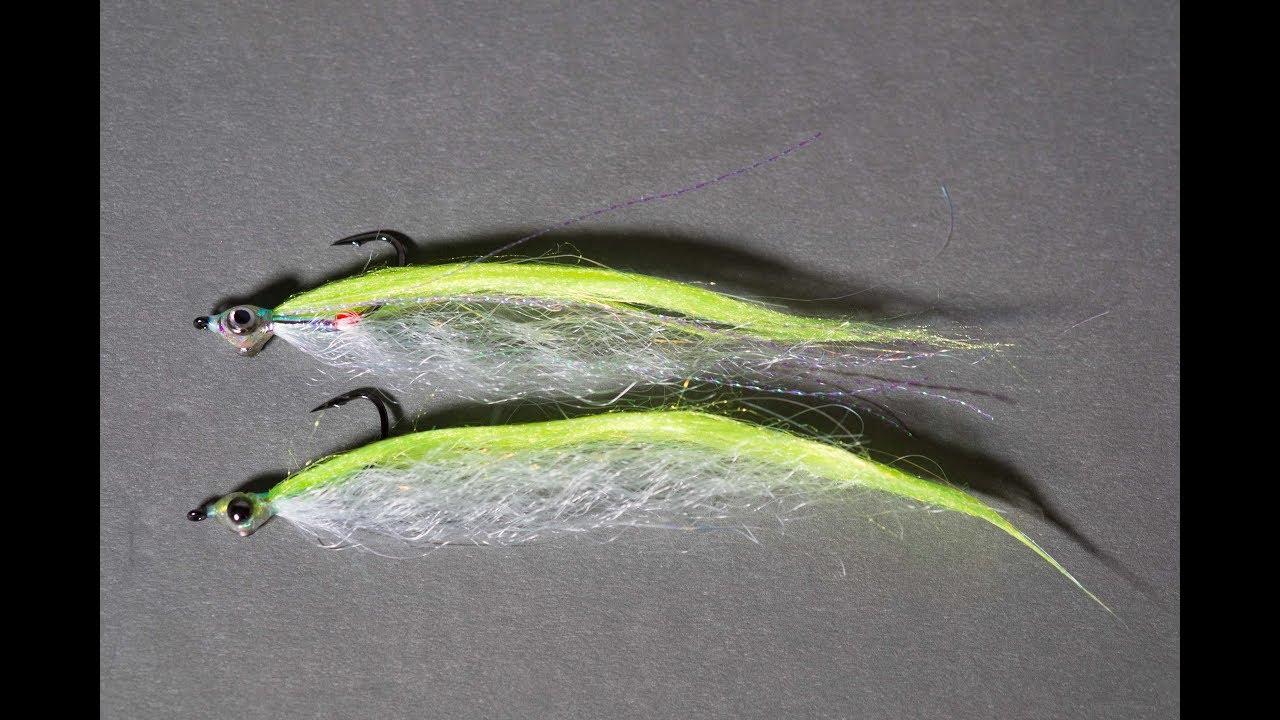 weiß Pink Ep Baitfish Streamer Fliege Für Zander Barsch /& Seebarsch