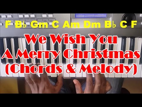 We Wish You A Merry Christmas Piano Tutorial Chords And Melody How To Play