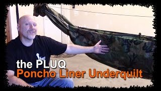 "How To Make A Poncho Liner Under Quilt Or ""pluq"" For Hammock Camping"