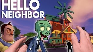 Realistic Minecraft: Hello Neighbor - ZOMBIES in the House !!
