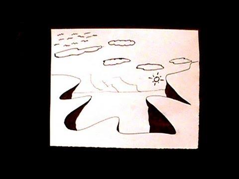 Forma f cil de dibujar paisajes youtube for Sillas para dibujar facil