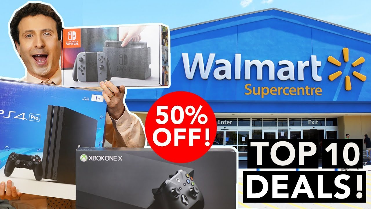 Walmart's Cyber Monday sale includes discounts on the PlayStation 4 Pro and Xbox One S