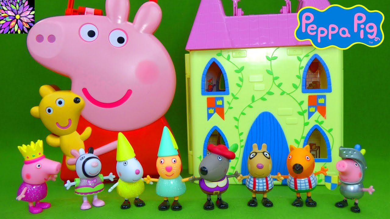 Princess Peppa Pig Toys Peppa S Royal Court Figurines Castle Playset Carry Along Friends Case Toys