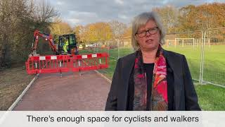 Deputy Council Leader Cllr Judy Llewellyn-Burke visited West End Farm Recreation Ground this week...