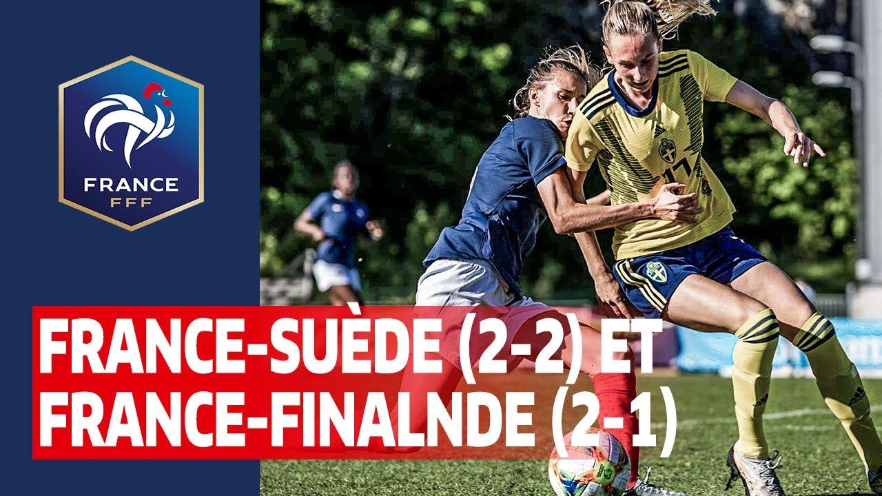 U23 Féminine : Résumé de Suède-France (2-2) et France-Finlande (2-1)