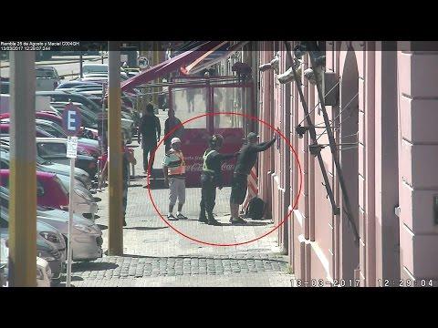 Videovigilancia: robo y detención en Ciudad Vieja