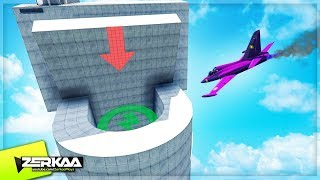 FLYING INTO A GIANT TOILET! (GTA 5)