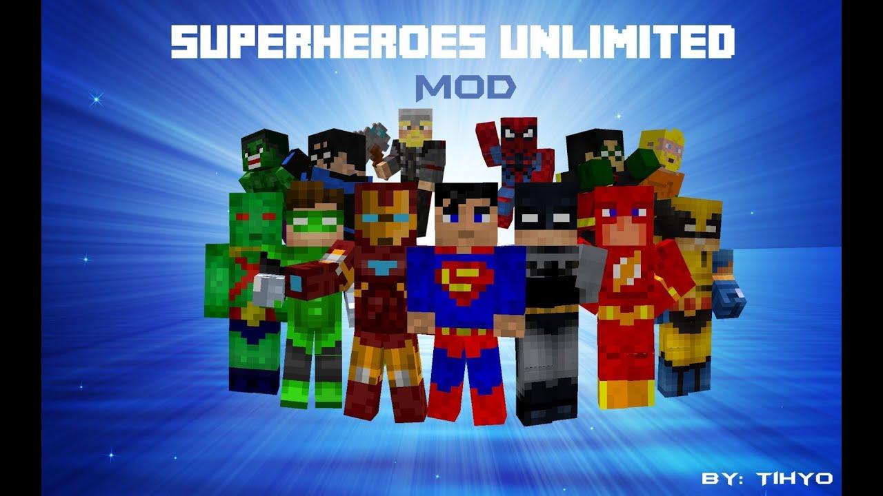 Скачать мод на Superheroes Unlimited Майнкрафт 1.7.10