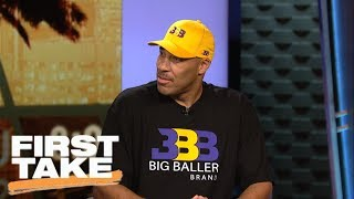 LaVar Ball discusses Big Baller Brand's 'Melo Ball 1' shoe for LaMelo | First Take | ESPN