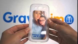 Coque Deluxe Samsung Galaxy S3 Bord Transparent à Personnaliser