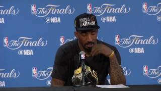 J R  Smith's Emotional Postgame Interview  Cavaliers vs Warriors   Game 7  2016 NBA Final