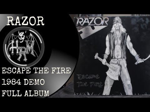 Razor Escape The Fire 1984 Demo (Full Album) Canadian Thrash Metal Band