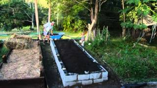 How To Build A Raised Vegetable Garden With Besser Blocks