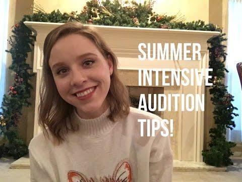 Summer Intensive Audition Tips - TwinTalksBallet