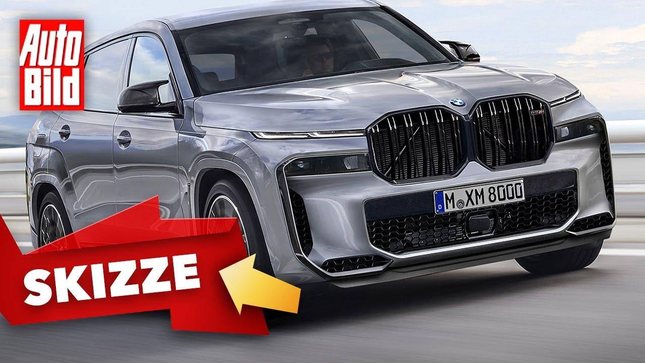 Download BMW X8 M (2021) |Zeigt der X8 neues SUV-Markengesicht? |Skizze