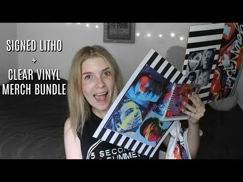 5SOS: Youngblood Merch Bundle UNBOXING (Signed Litho) | Olivia Rena